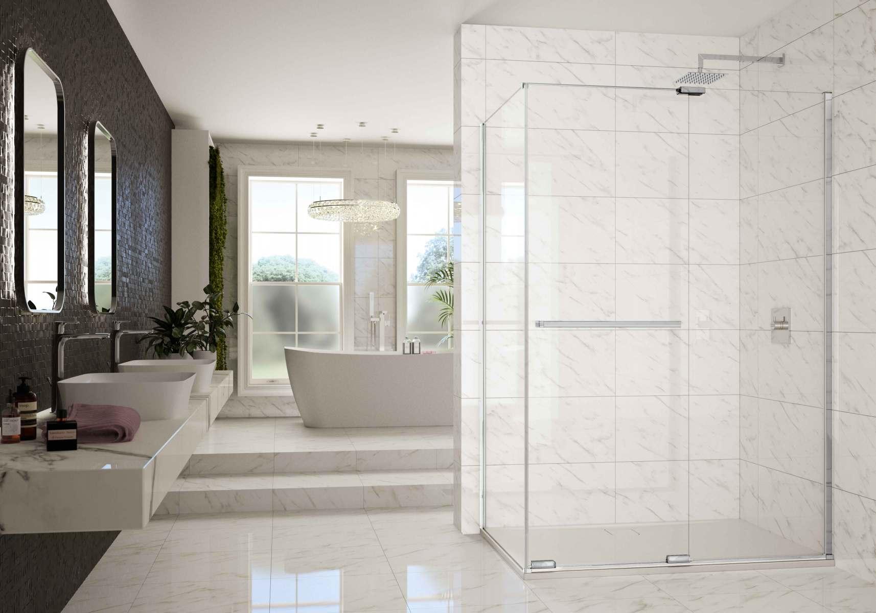 Arysto-X-Frameless-Sliding-door-with-Side-Panel_White_LR
